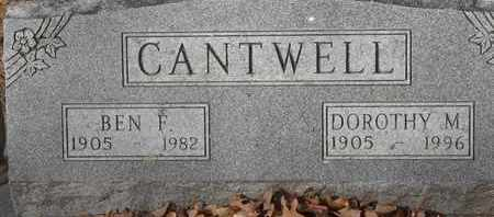 CANTWELL, BEN F - Morgan County, Missouri | BEN F CANTWELL - Missouri Gravestone Photos