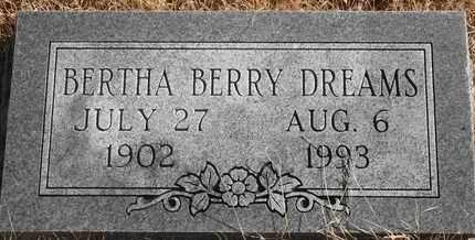 BERRY DREAMS, BERTHA - Morgan County, Missouri | BERTHA BERRY DREAMS - Missouri Gravestone Photos