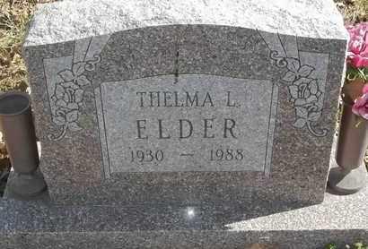 ELDER, THELMA L - Morgan County, Missouri | THELMA L ELDER - Missouri Gravestone Photos