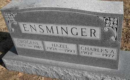 ENSMINGER, CHARLES A - Morgan County, Missouri | CHARLES A ENSMINGER - Missouri Gravestone Photos