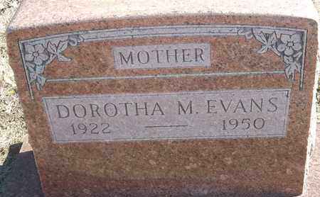 EVAN, DOROTHA M - Morgan County, Missouri | DOROTHA M EVAN - Missouri Gravestone Photos