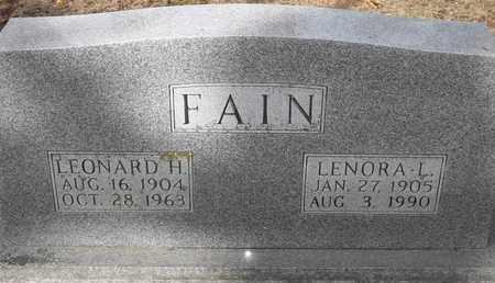 FAIN, LENORA L - Morgan County, Missouri | LENORA L FAIN - Missouri Gravestone Photos