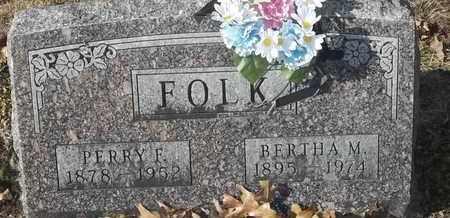 FOLK, PERRY F - Morgan County, Missouri | PERRY F FOLK - Missouri Gravestone Photos