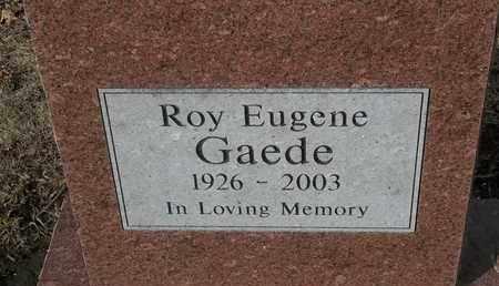 GAEDE, ROY EUGENE - Morgan County, Missouri   ROY EUGENE GAEDE - Missouri Gravestone Photos