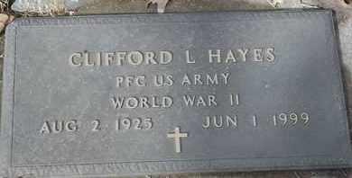 HAYES - MILITARY, CLIFFORD L - Morgan County, Missouri   CLIFFORD L HAYES - MILITARY - Missouri Gravestone Photos