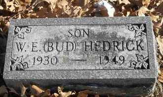 "HEDRICK, W E ""BUD"" - Morgan County, Missouri | W E ""BUD"" HEDRICK - Missouri Gravestone Photos"