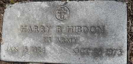 HIBDON - MILITARY, HARRY B - Morgan County, Missouri | HARRY B HIBDON - MILITARY - Missouri Gravestone Photos