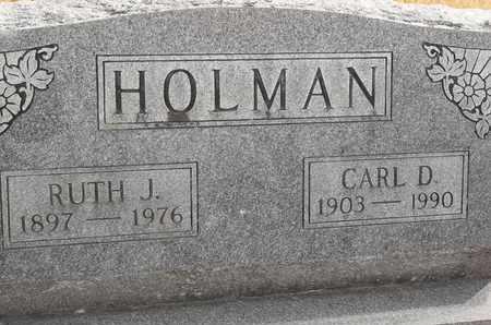 HOLMAN, CARL D - Morgan County, Missouri   CARL D HOLMAN - Missouri Gravestone Photos