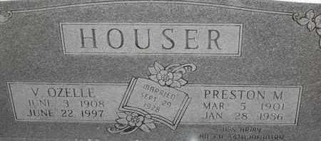 HOUSER, PRESTON M - Morgan County, Missouri   PRESTON M HOUSER - Missouri Gravestone Photos