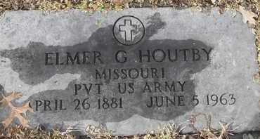 HOUTBY - MILITARY, ELMER G - Morgan County, Missouri   ELMER G HOUTBY - MILITARY - Missouri Gravestone Photos