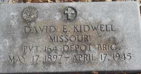 KIDWELL - MILITARY, DAVID E - Morgan County, Missouri | DAVID E KIDWELL - MILITARY - Missouri Gravestone Photos
