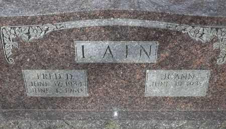 LAIN, FRED D - Morgan County, Missouri | FRED D LAIN - Missouri Gravestone Photos