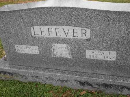 LEFEVER, ALVA J - Morgan County, Missouri | ALVA J LEFEVER - Missouri Gravestone Photos