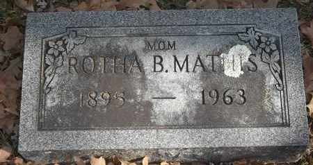 MATHIS, ROTHA B - Morgan County, Missouri | ROTHA B MATHIS - Missouri Gravestone Photos