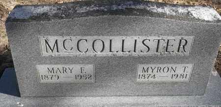 MCCOLLISTER, MARY F - Morgan County, Missouri | MARY F MCCOLLISTER - Missouri Gravestone Photos