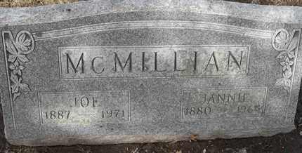 MCMILLIAN, JANNIE - Morgan County, Missouri | JANNIE MCMILLIAN - Missouri Gravestone Photos