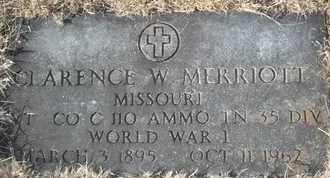 MERRIOTT, CLARENCE W VETERAN - Morgan County, Missouri | CLARENCE W VETERAN MERRIOTT - Missouri Gravestone Photos