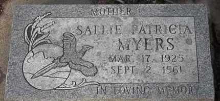 MYERS, SALLIE PATRICIA - Morgan County, Missouri | SALLIE PATRICIA MYERS - Missouri Gravestone Photos