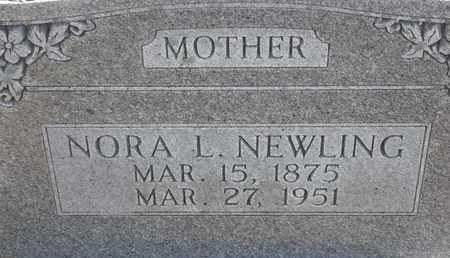 NEWLING, NORA L - Morgan County, Missouri | NORA L NEWLING - Missouri Gravestone Photos