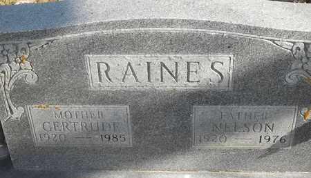 RAINES, NELSON - Morgan County, Missouri   NELSON RAINES - Missouri Gravestone Photos