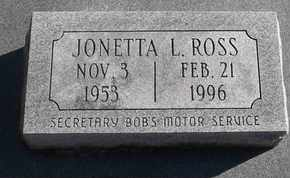 ROSS, JONETTA L - Morgan County, Missouri   JONETTA L ROSS - Missouri Gravestone Photos