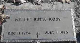 ROSS, NELLIE BETH - Morgan County, Missouri   NELLIE BETH ROSS - Missouri Gravestone Photos