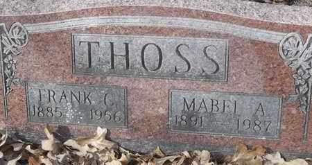 THOSS, MABEL A - Morgan County, Missouri | MABEL A THOSS - Missouri Gravestone Photos