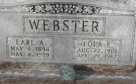 WEBSTER, EARL A - Morgan County, Missouri | EARL A WEBSTER - Missouri Gravestone Photos