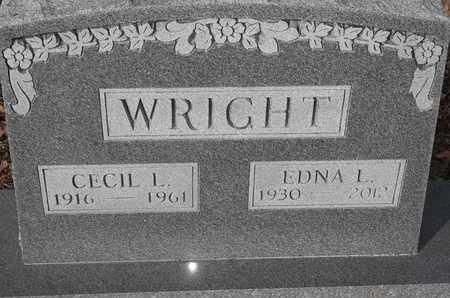 WRIGHT, CECIL L - Morgan County, Missouri   CECIL L WRIGHT - Missouri Gravestone Photos