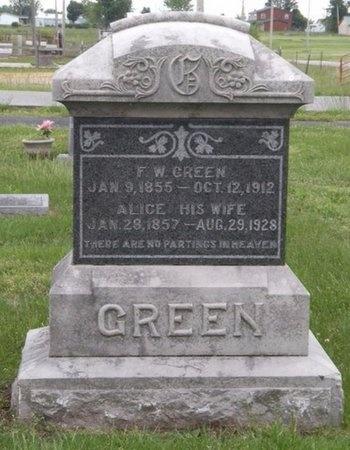 GREEN, FRANK W - Newton County, Missouri | FRANK W GREEN - Missouri Gravestone Photos