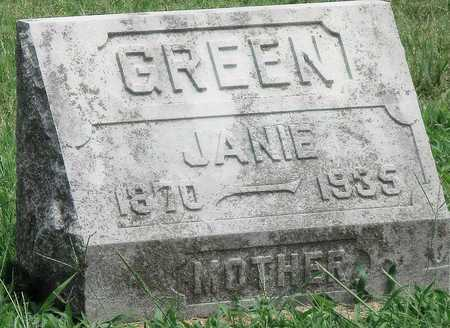 """GREEN, MARTHA JANE """"JANIE"""" - Newton County, Missouri   MARTHA JANE """"JANIE"""" GREEN - Missouri Gravestone Photos"""
