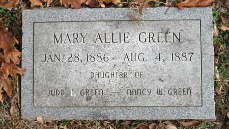 GREEN, MARY ALLIE - Newton County, Missouri   MARY ALLIE GREEN - Missouri Gravestone Photos