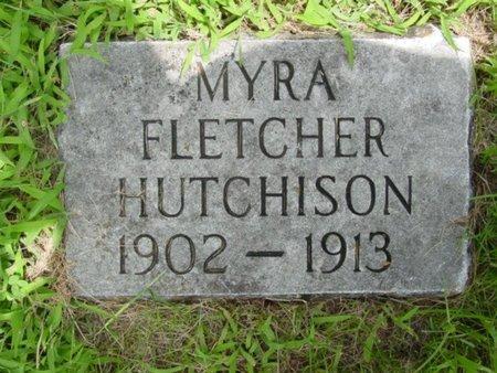 HUTCHISON, MYRA FLETCHER - Newton County, Missouri | MYRA FLETCHER HUTCHISON - Missouri Gravestone Photos