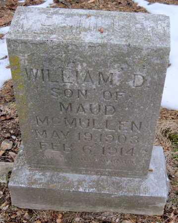MCMULLEN, WILLIAM D - Newton County, Missouri | WILLIAM D MCMULLEN - Missouri Gravestone Photos