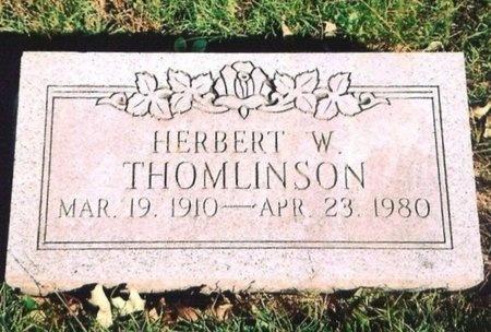 THOMLINSON, HERBERT W. - Newton County, Missouri | HERBERT W. THOMLINSON - Missouri Gravestone Photos