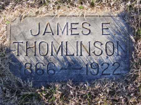THOMLINSON, JAMES EDWARD - Newton County, Missouri | JAMES EDWARD THOMLINSON - Missouri Gravestone Photos