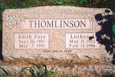 WHEELER THOMLINSON, EDITH FAYE - Newton County, Missouri | EDITH FAYE WHEELER THOMLINSON - Missouri Gravestone Photos