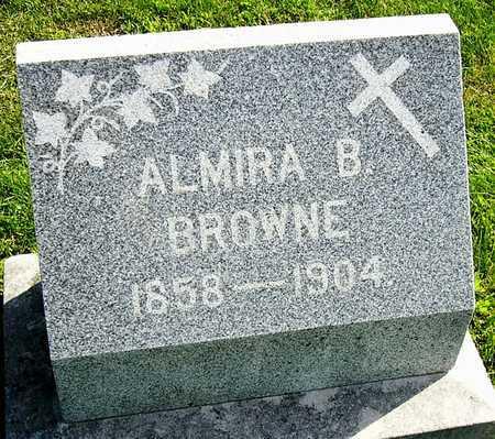BROWNE, ALMIRA B - Nodaway County, Missouri | ALMIRA B BROWNE - Missouri Gravestone Photos
