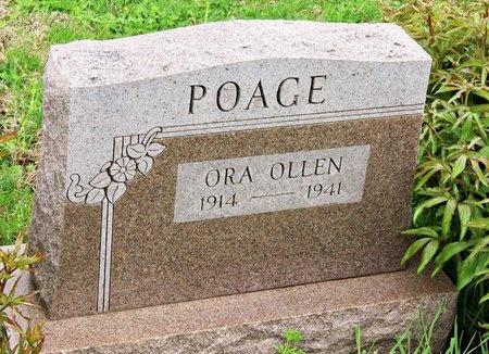 "POAGE, ORA OLLEN ""ORIE"" - Nodaway County, Missouri | ORA OLLEN ""ORIE"" POAGE - Missouri Gravestone Photos"