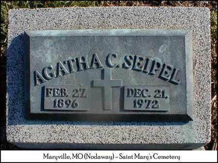 HENGGELER SEIPEL, AGATHA - Nodaway County, Missouri | AGATHA HENGGELER SEIPEL - Missouri Gravestone Photos