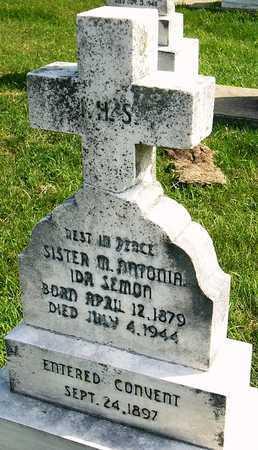 SEMON, MARIA ANTONIA IDA SISTER - Nodaway County, Missouri   MARIA ANTONIA IDA SISTER SEMON - Missouri Gravestone Photos