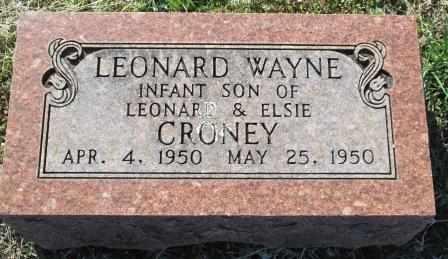 CRONEY, LEONARD WAYNE - Ozark County, Missouri | LEONARD WAYNE CRONEY - Missouri Gravestone Photos