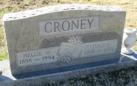 CRONEY, NELLIE MATILDA - Ozark County, Missouri   NELLIE MATILDA CRONEY - Missouri Gravestone Photos