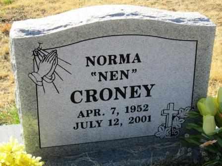 "CRONEY, NORMA ""NEN"" - Ozark County, Missouri | NORMA ""NEN"" CRONEY - Missouri Gravestone Photos"