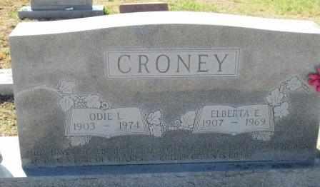 CRONEY, ODIE L - Ozark County, Missouri   ODIE L CRONEY - Missouri Gravestone Photos