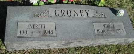 CRONEY, VIRGIE - Ozark County, Missouri | VIRGIE CRONEY - Missouri Gravestone Photos