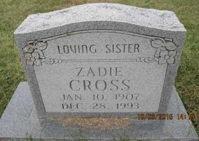 CROSS, ZADIE - Pemiscot County, Missouri | ZADIE CROSS - Missouri Gravestone Photos