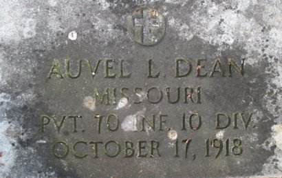 DEAN, AUVEL  L. VETERAN - Pemiscot County, Missouri | AUVEL  L. VETERAN DEAN - Missouri Gravestone Photos
