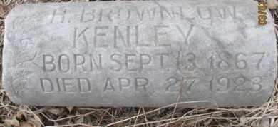 KENLEY, H. BROWNLOW - Pemiscot County, Missouri | H. BROWNLOW KENLEY - Missouri Gravestone Photos