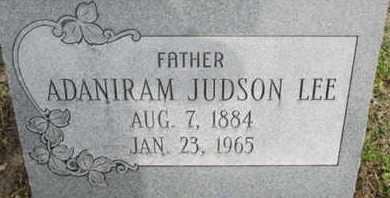 LEE, ADANIRAM JUDSON - Pemiscot County, Missouri   ADANIRAM JUDSON LEE - Missouri Gravestone Photos